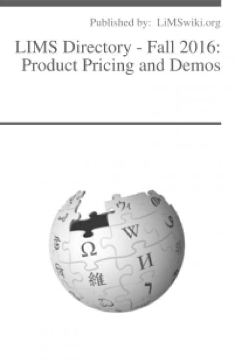 LIMS Directory – Fall 2016: Product Pricing and Demos