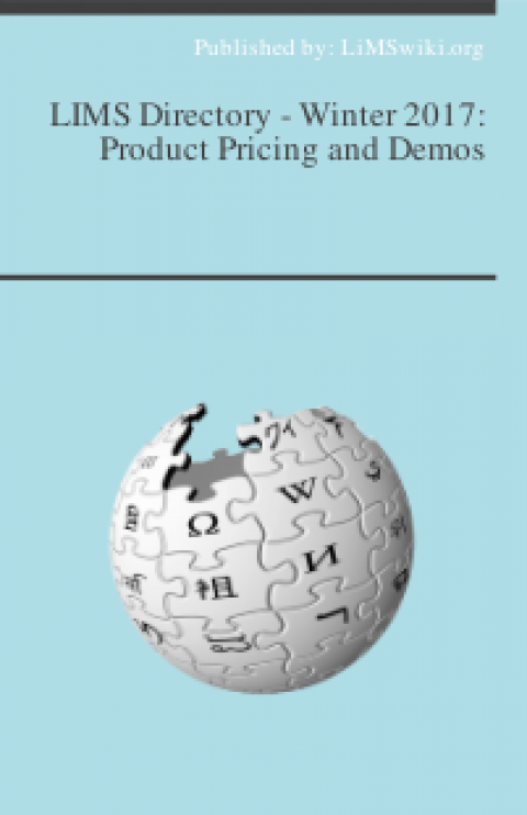 LIMS Directory – Winter 2017: Product Pricing and Demos